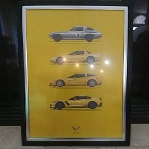 Framed Corvette Z06 Poster